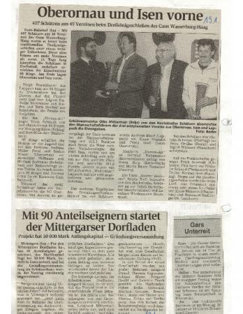 01/99 mit 90 Anteilsnehmern startet Dorfladen