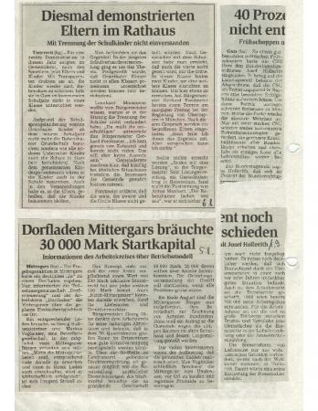 08/98 Dorfladen bräuchte Startkapital