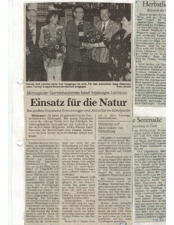 09/97 50 Jahre Gartenbauverein