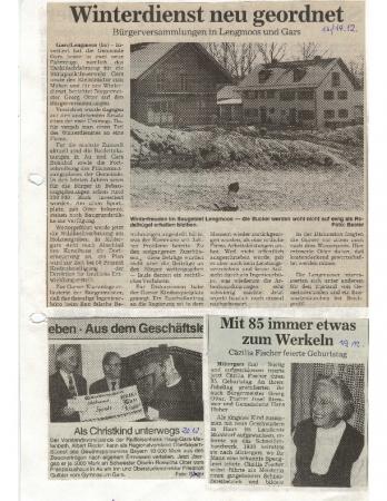 12/97 Cäzilia Fischer wird 85