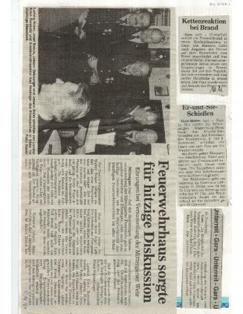 11/97 Feuerwehrhaus sorgte für Diskusion