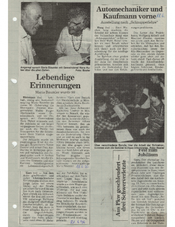 06/96 Maria Bäumler wurde 90