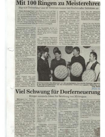 01/97 Viel Schwung für Dorferneuerung