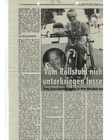 08/97 Vom Rollstuhl nicht untkriegen lassen