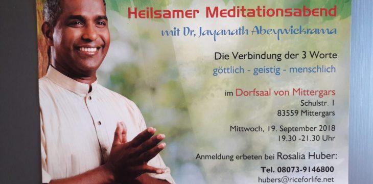 Heilsamer Meditationsabend
